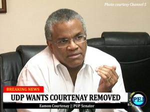 Senator Eamon Courtenay (Picture courtesy Channel 5 News}