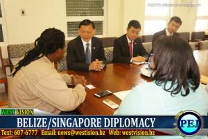 Delegation from Singapore visits Belize