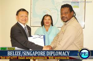 Singapore officials meet Belizean counterparts