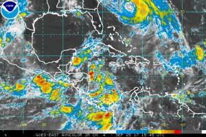 Western Atlantic satellite view [Courtesy NOAA]