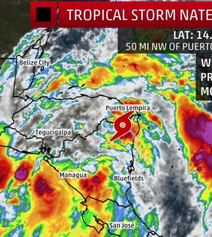 Tropical Storm Nate [Courtesy Weather Channel]