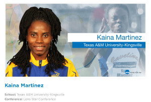 Kaina Martinez nominated for Woman of the Year {NCAA photo]