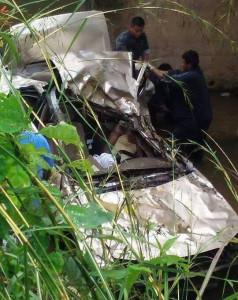 Fatal RTA in St. Margaret Village {Photo courtesy Transport Department]