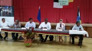 Chief Justice Kenneth Benjamin with Maya leaders